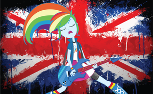 Equestria Girls Rainbow Dash - Rock Revolution by JoeMasterPencil