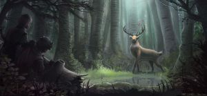 Forest King by MikeCoombsArt