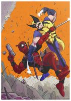 Deadpool vs Wolverine by Juggertha