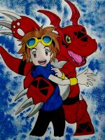 Takato and Guilmon by JunBaskerville