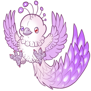Chibi commission: albino phoenyx by AltairSky