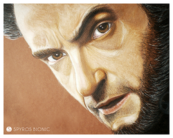 Hugh Jackman. Colored pencils. by SpyrosBionic