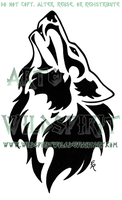 Countries Howling Wolf Design by WildSpiritWolf