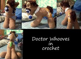Doctor Whooves in crochet by cbs