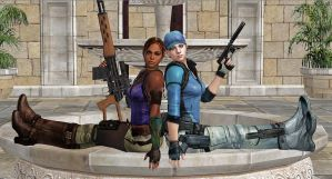 Jill and Sheva-BSAA PARTNERS by blw7920