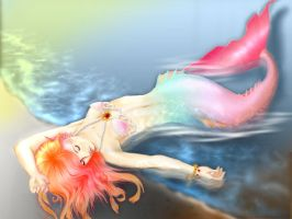 my mermaid color by cording44