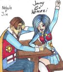 Jim And Nebula From My Fanfic Journey To Nomazi! by HarmonyGirl11