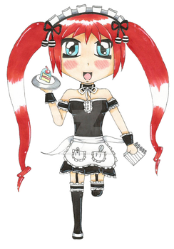 .:Maid-san Ruby:. by CandyDeathMachine