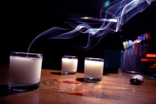 burning candles by Yuezhang