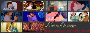 Disney princess and there princes by Midnightrosesblood