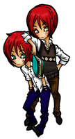Commission Quinn and Quintin by nicoyguevarra