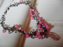 Pink beads in necklace by edelweiss-workshop