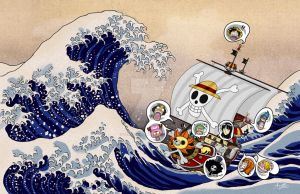 The Great Wave off the Thousand Sunny by Velocimander