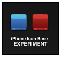 iPhone Icon Base Experiment by Sandvoid
