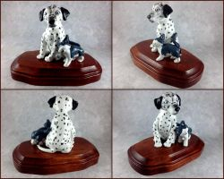 Cuddling Dog and Cat Sculpture by LeiliaClay