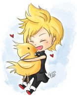 .:FFXV:. Prompto and Chocobo by MitskiMing