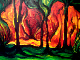 Burning Forest by Tiger-tyger