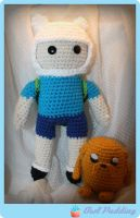 Crochet Finn and Jake by Ashler-Sauce