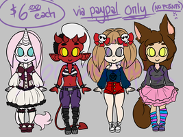 ..::ADOPTABLES 01::.. {OPEN} by ZombieComplex