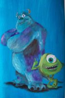 Mike and Sulley by billywallwork525