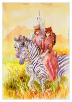 Zebra Riders by shadow-of-kyle