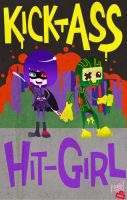 KICK-ASS and HIT-GIRL by handsomerogue