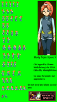 Molly- Sonic X sprite sheet by MidnightPrime