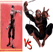 Scout VS Spiderman by DeRpYhOoVvEs