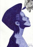 With blue pen by Cindy-R