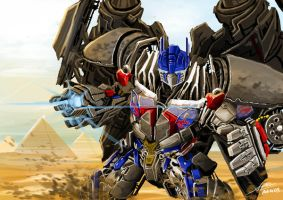 Mr. Optimus 'Jet'prime by garonkeren