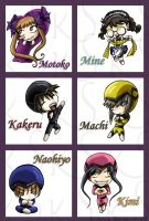 Fruits Basket Chibis: Set 4 by KhamomealTea