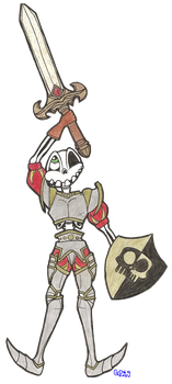 Paper Child - Sir Daniel Fortesque by Gangster-dog