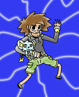 Steve Thunder And Shinx with lights by BastienLink