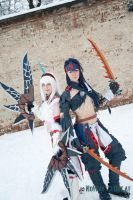 Kirin and Narga Armor Cosplay by LetheGlurak