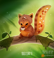 Daily Paint 1501. Biscoatti by Cryptid-Creations