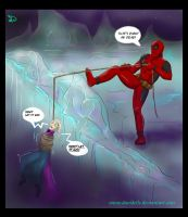 Deadpool meets Elsa by Davidelle