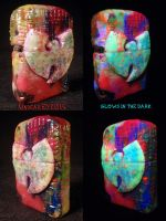 Wu Tang Zippo By Undead Ed Glows in the Dark 2 by Undead-Art