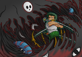 Zoro VS Arakune by hedgehog3000