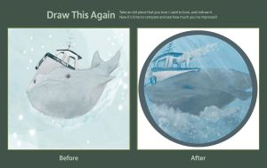 Draw this Again Challenge: Whale Boat by running-high