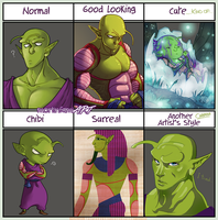 Style Meme - DBZ Piccolo by mortinfamiART
