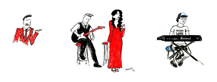 Live Sketches at Mr. B Gig by maxine