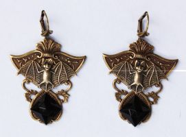Egyptian vampire bats earrings by Pinkabsinthe