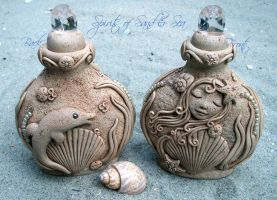 Spirits of Sand and Sea (Potion/Perfume Bottle) by NalinaRoseStudio