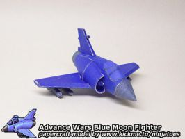 Papercraft Advance Wars Blue Moon Fighter by ninjatoespapercraft