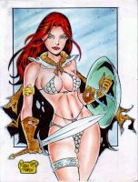 RED SONJA by RODEL MARTIN (11122015) by rodelsm21