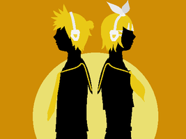Rin and Len Kagamine - Box Ghost Twin Base by 0Box-Ghost0