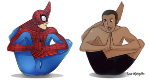 Spider-Man, Yoga, and Me by Odie1049