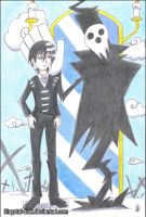 Shinigami-sama and Death the Kid by khryztal-dark