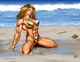 Leenah on the Beach by DavidCMatthews
