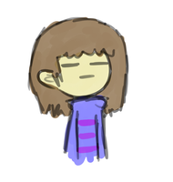 Trying to draw Frisk o-e by Fruitsi